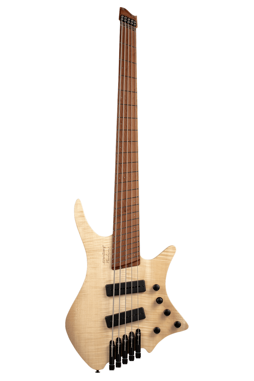 Headless Boden Bass 5-string natural front view