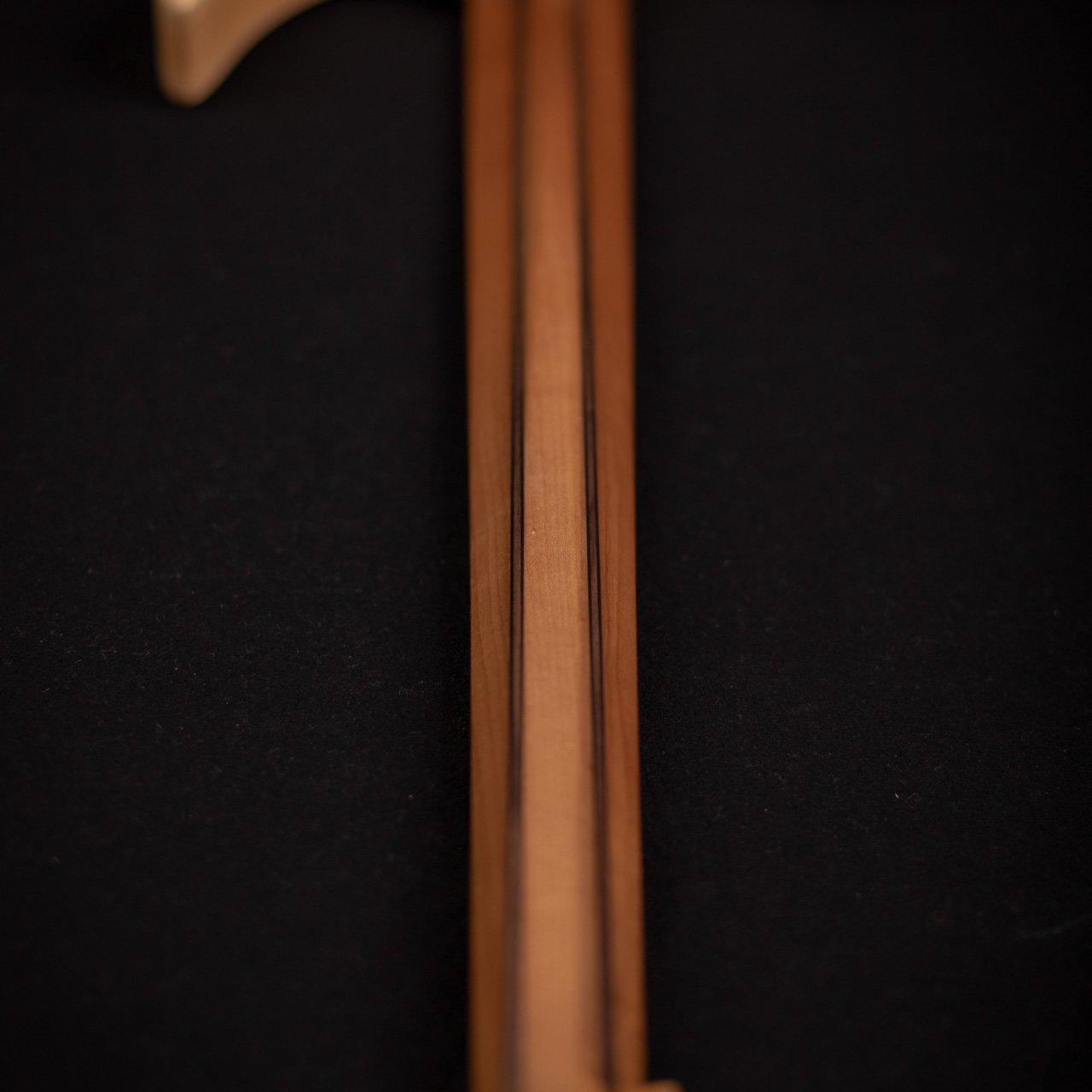 Headless boden BASS 5 string natural back view