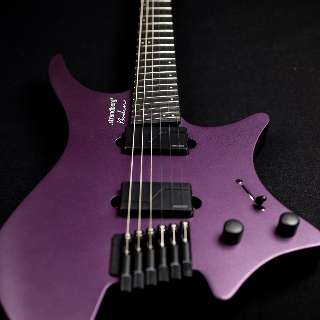 Headless Guitar Boden Metal purple front view
