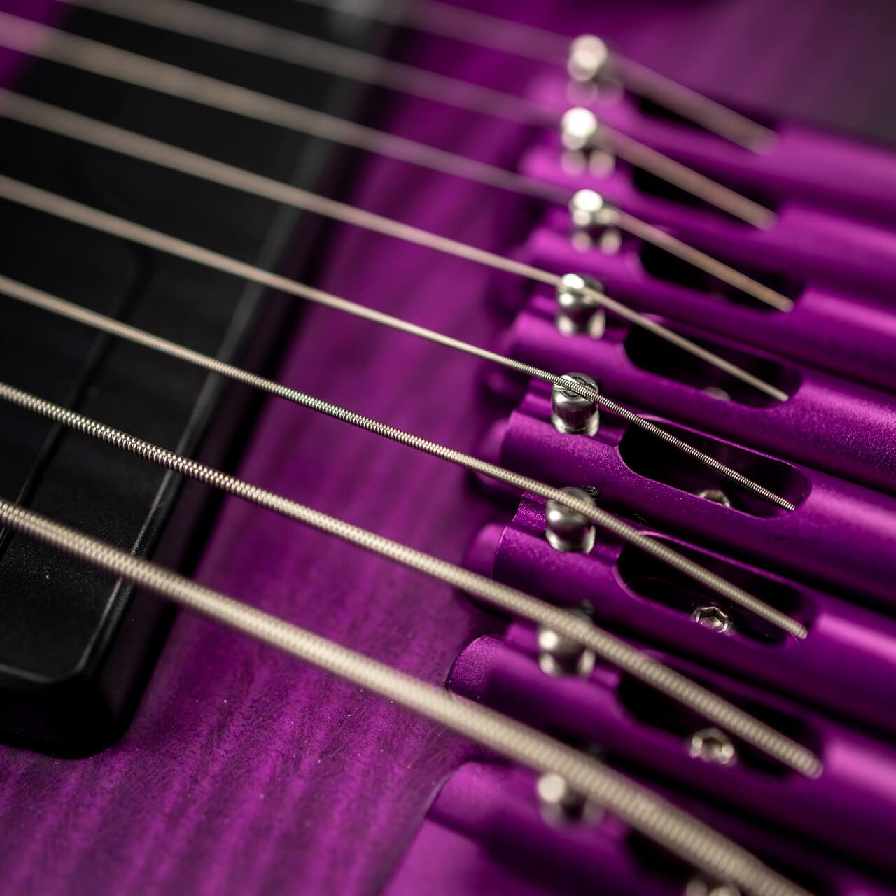 True Temperament purple headless guitar 8 string pickup