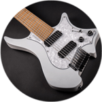Headless guitar Boden classic 7 ghost white