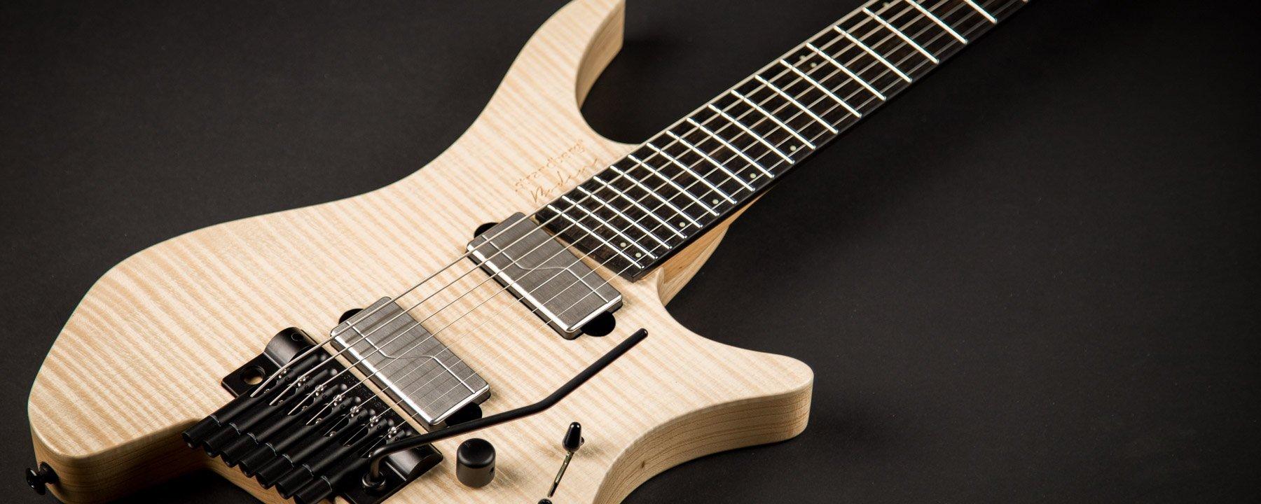 Headless guitar prog natural 7 string