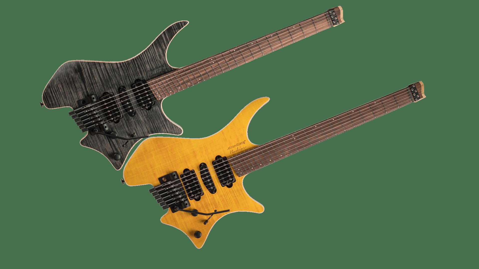 Family Photo Headless Guitar Boden Fusion Trem 6-string Honey & Black