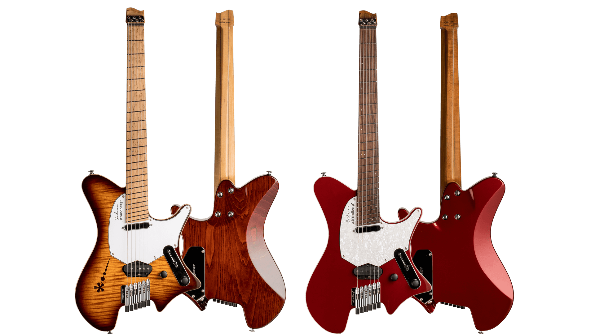 Sälen deluxe family photo vintage burst & candy apple red 6 string