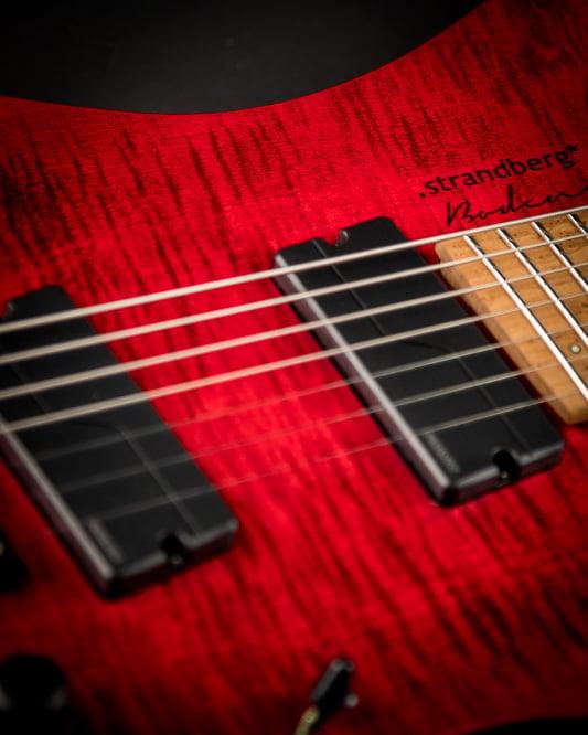Headless guitar Boden Original 7 string Red
