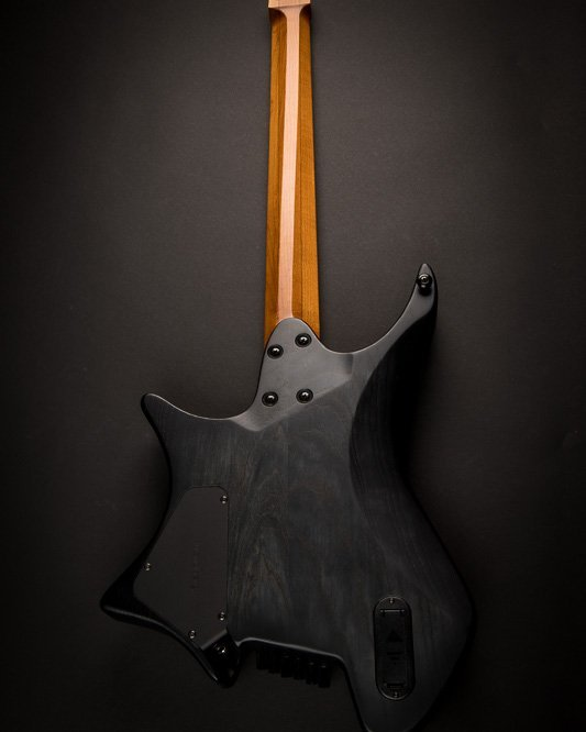 Headless guitar Masvidalen 6 string back view