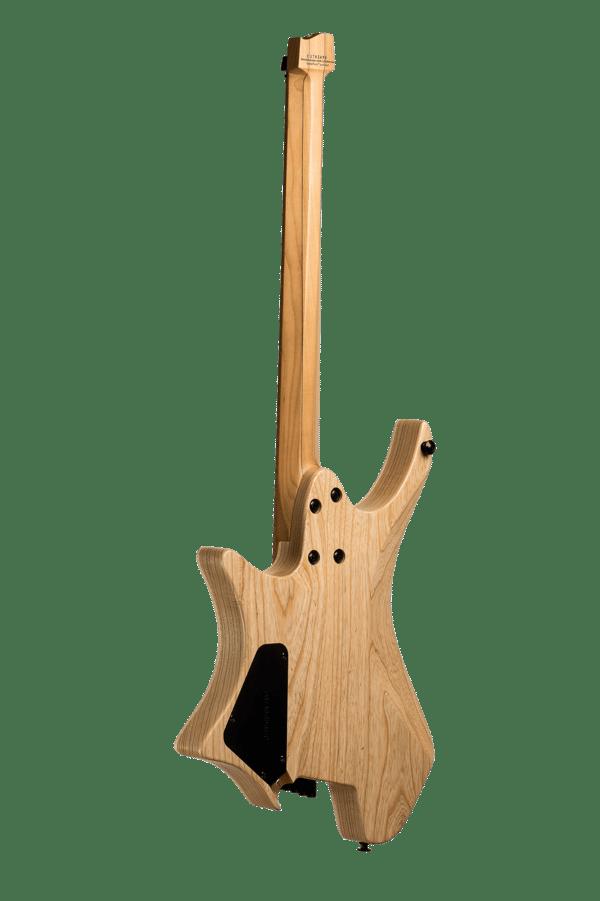 Headless guitar Boden Original 6 string Natural back view