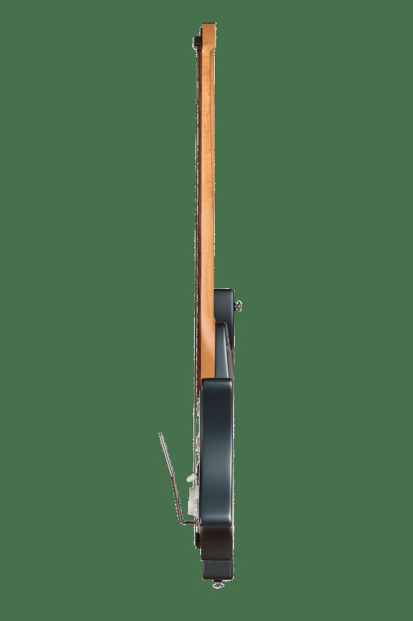 Headless guitar Boden classic 6 string trem malta blue side view