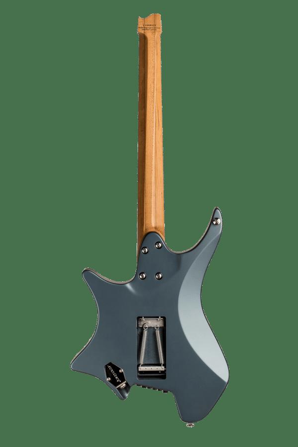 Headless guitar Boden classic 6 string trem malta blue back view