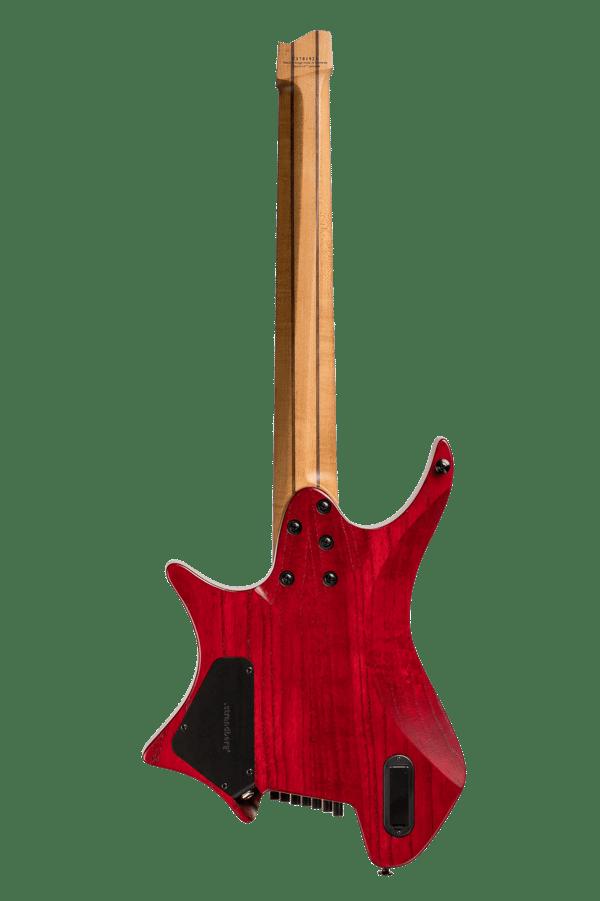 Headless Guitars Boden Original 7 string Red back view