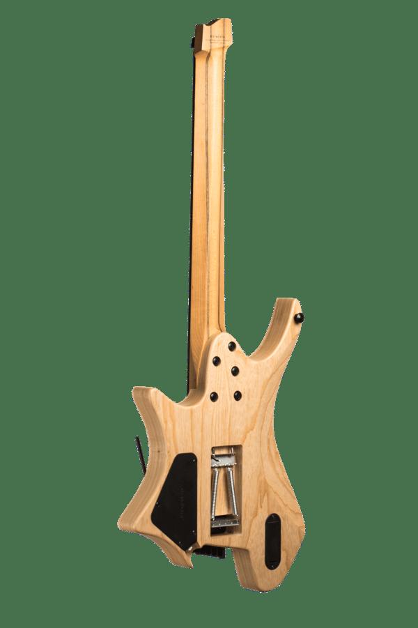 Headless Boden Prog trem 7-String Natural Guitar back view