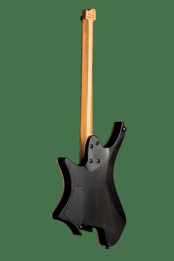 Headless guitar boden fusion 6 string black back view