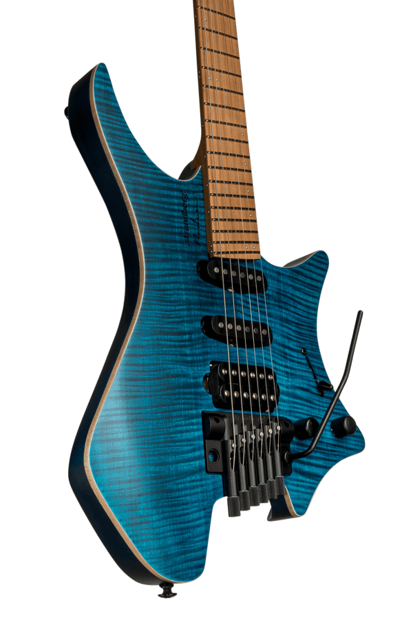 Boden Standard 7 maple flame blue with tremolo