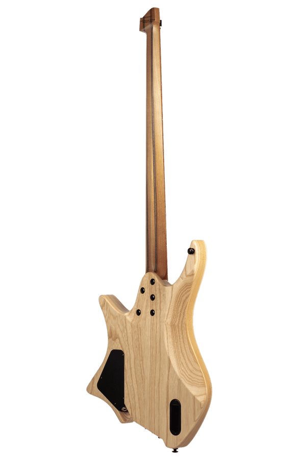 Headless Boden Bass 4-string natural back view