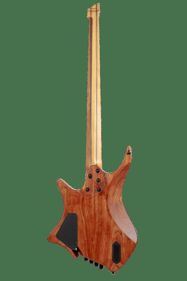 Headless Boden 4-string bass Prog Brown back view