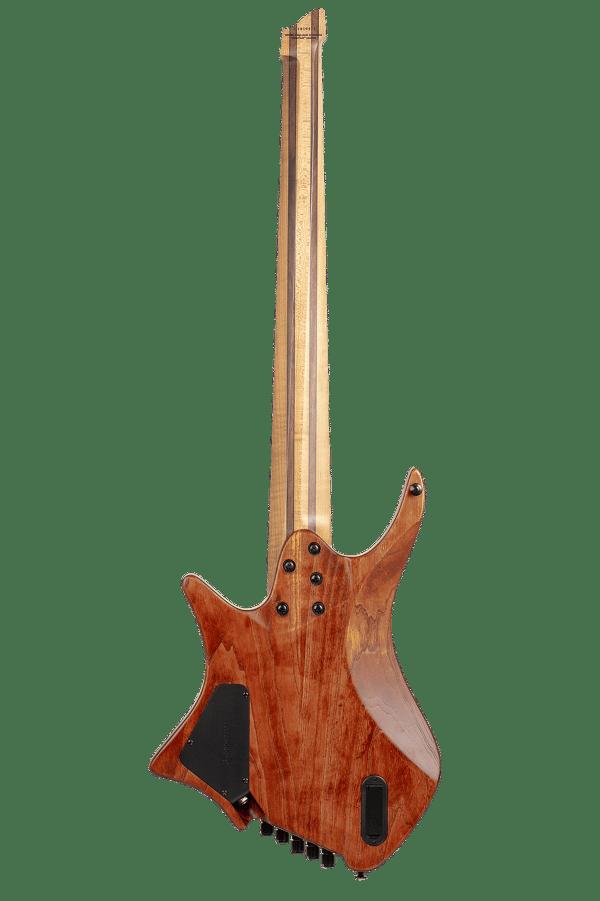 Headless Boden 5-string bass Prog Brown back view