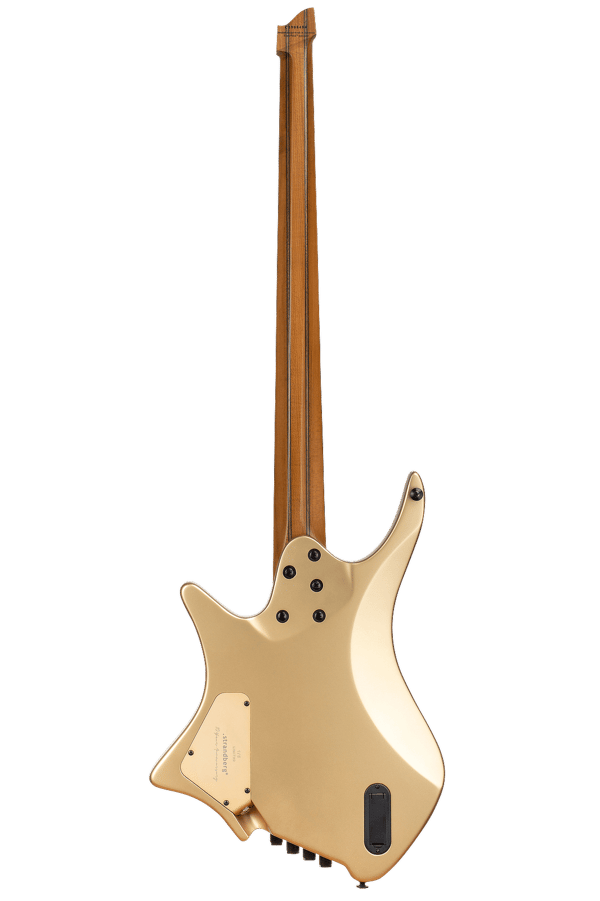 Boden Bass 4string limited edition headless guitar gold back view