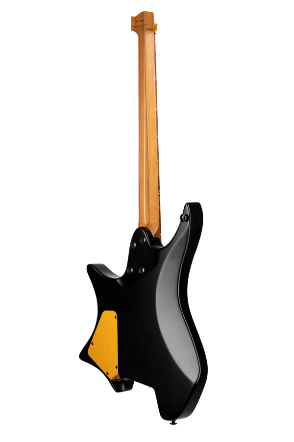 True Temperament Brown Burst 6 string headless guitar back view EndureNeck