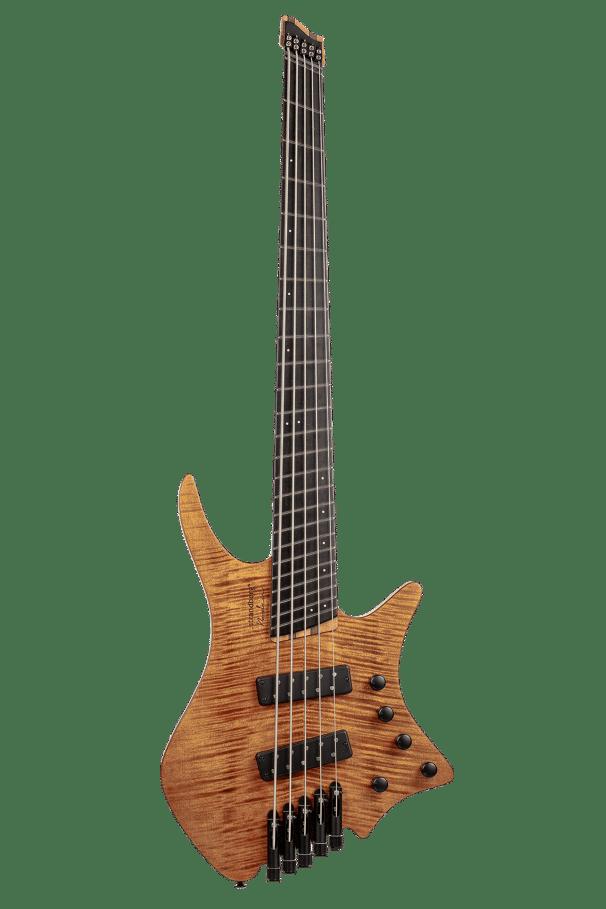 Headless Boden 5-string bass Prog Brown