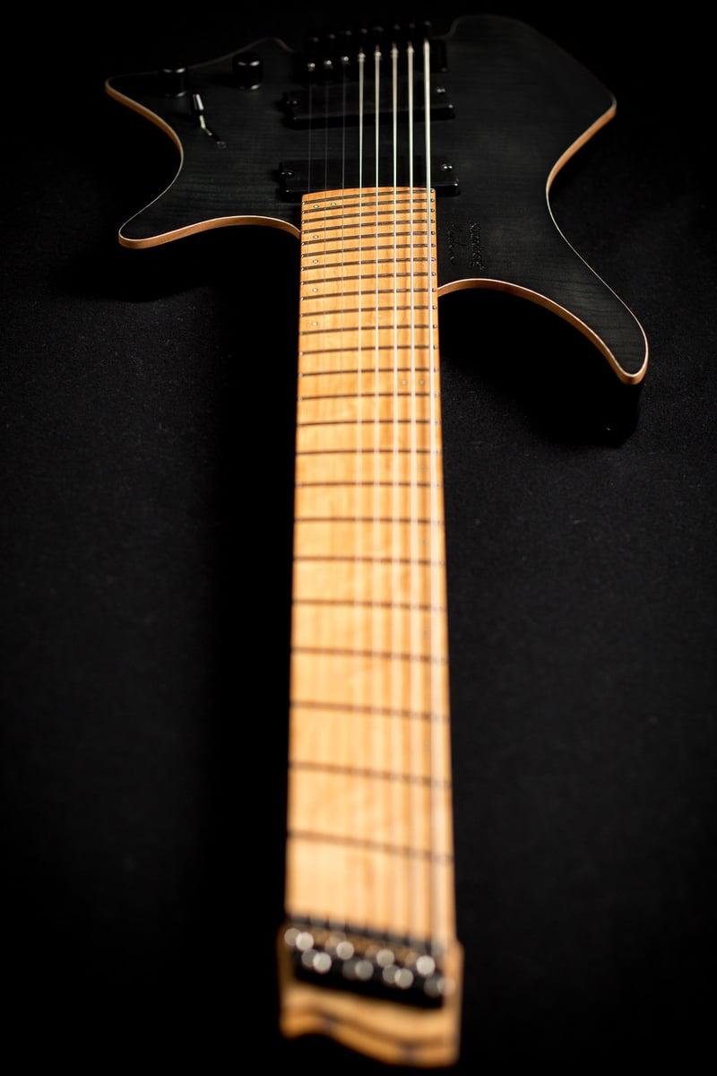 headless guitar black boden fusion 6 string