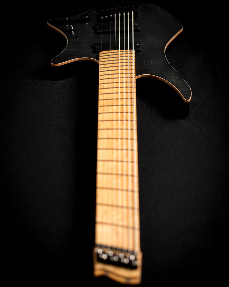 headless guitar black boden fusion 6 string