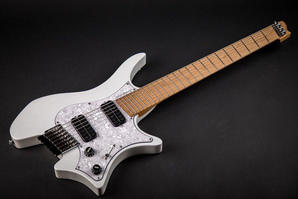 Headless guitar Boden classic 7 string ghost white