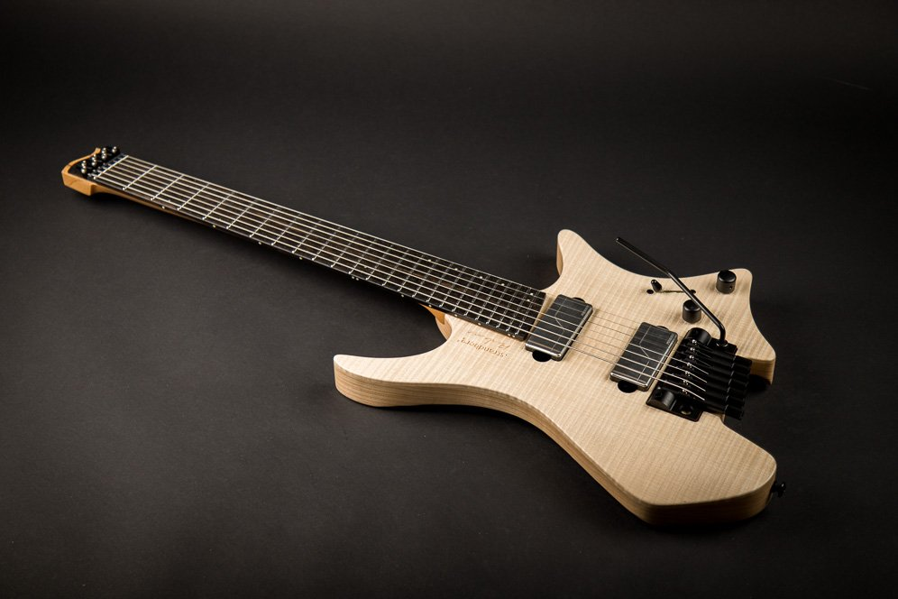 Headless Guitar Boden Prog Trem 7 string Natural