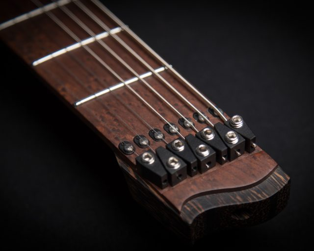 The key headless feature on one of our guitars