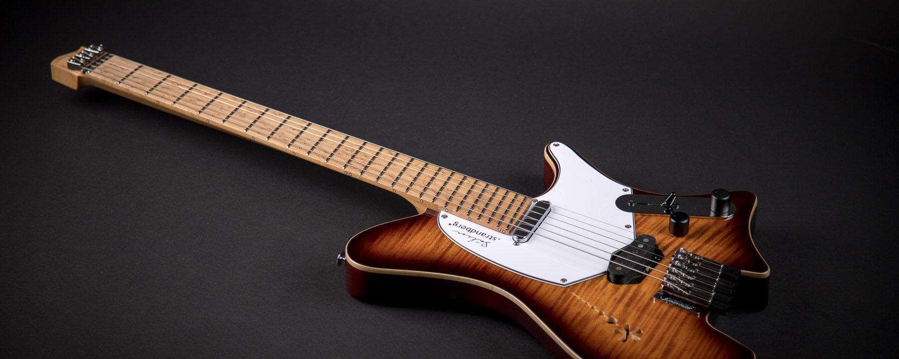 The Sälen Deluxe Beauty Shot Headless Guitar from Strandberg