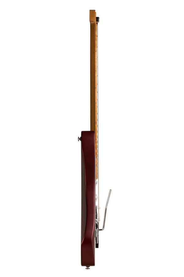 Headless guitar Boden Classic 6-String Guitar Trem Burgundy Mist side view