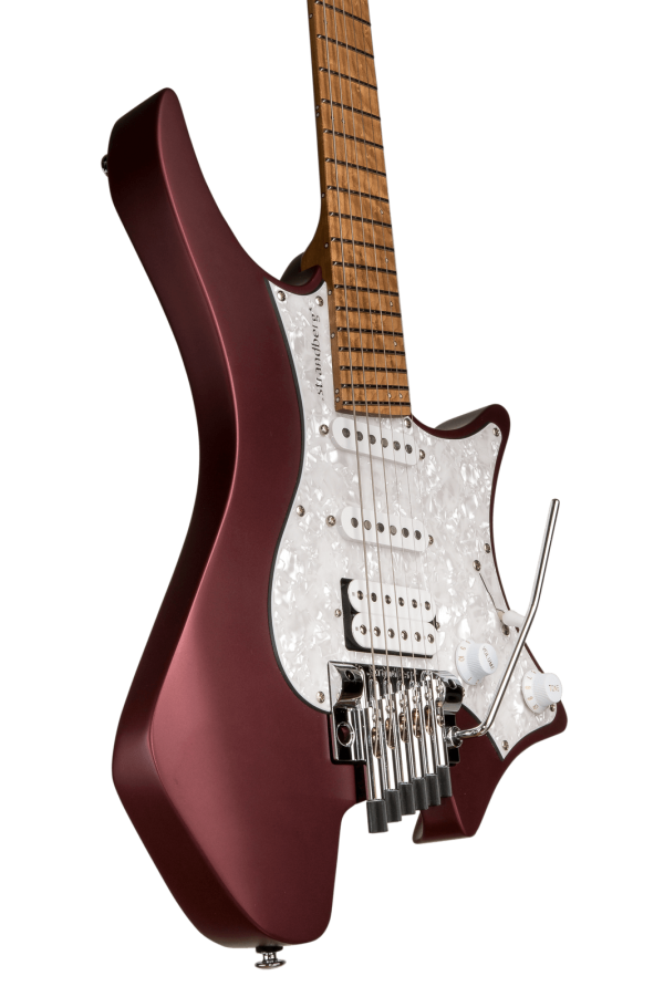 Headless guitar Boden classic 6 string trem burgundy mist
