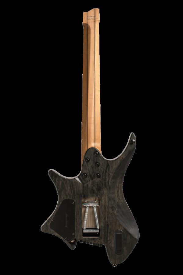 Headless Boden Prog Trem 7-String Black Guitar back view
