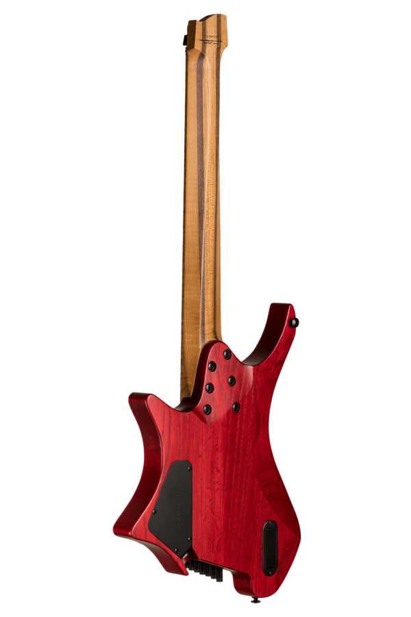 Headless Guitar Boden Original 8 string Red back view