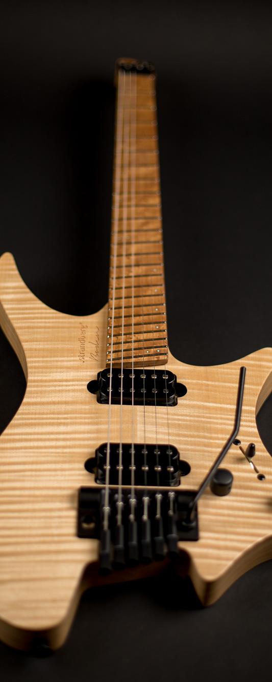 Headless guitar Boden Original Trem 6 string natural