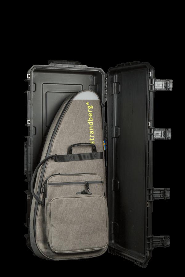 Headless guitar hard case with Strandberg gig-bag