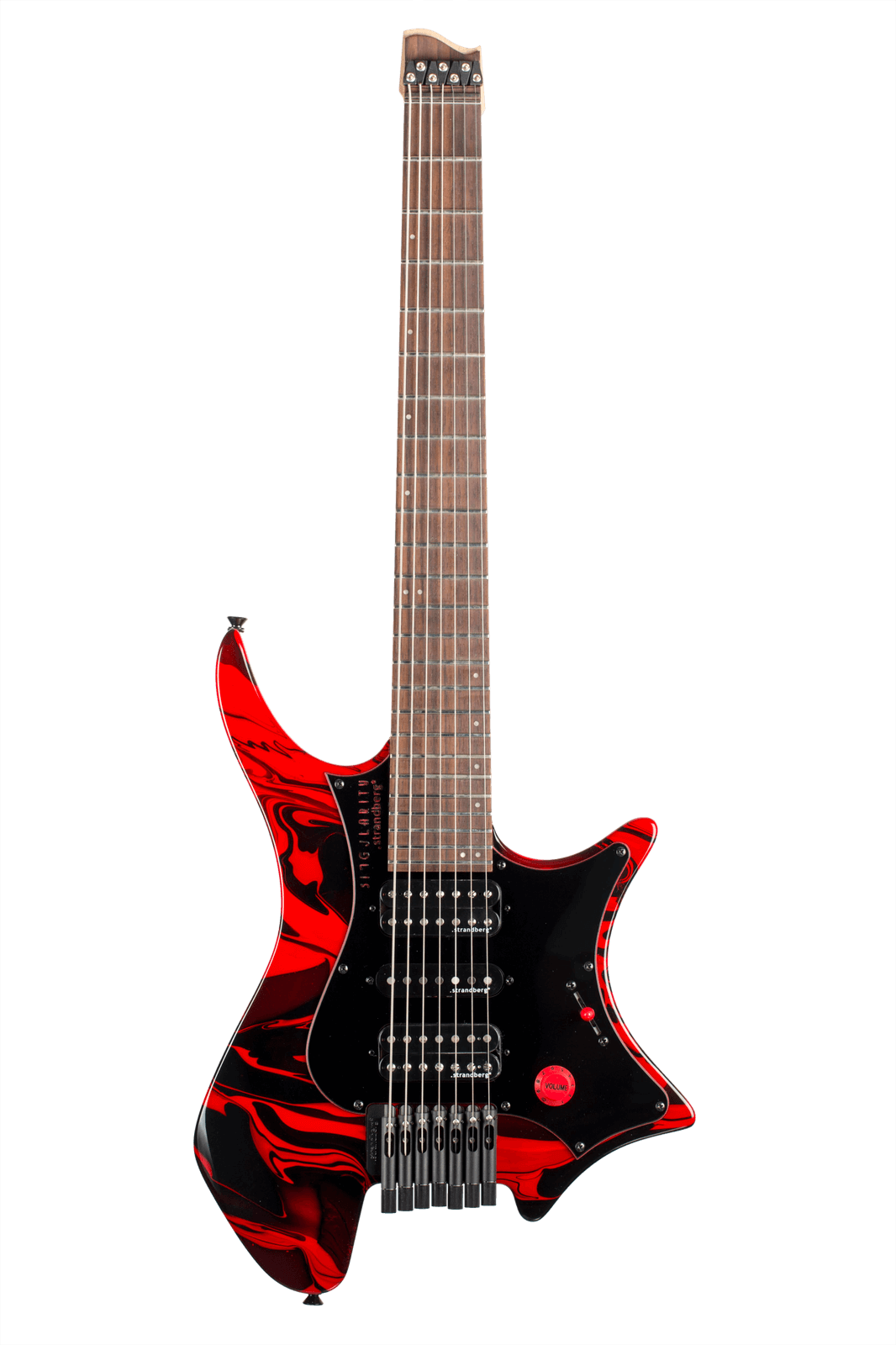 Boden Singularity 7-string guitar Red Swirl