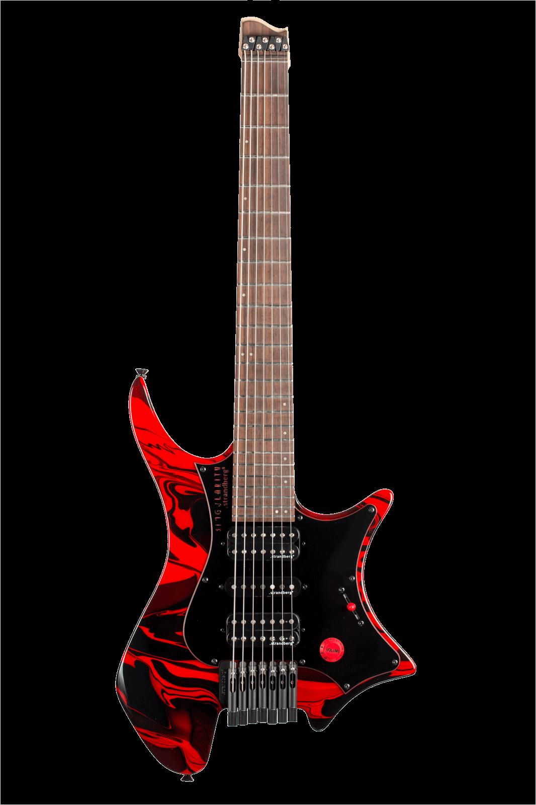 Headless guitar Boden Singularity 7-string Red Swirl