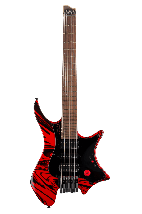 Headless Guitar Boden Singularity 7-string Red Swirl
