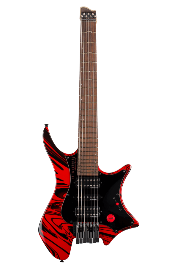 Boden Singularity 7-string guitar True Temperament Red Swirl