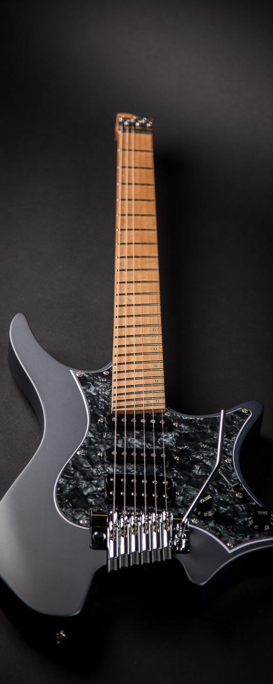 Headless guitar Boden classic 6 string trem graphite