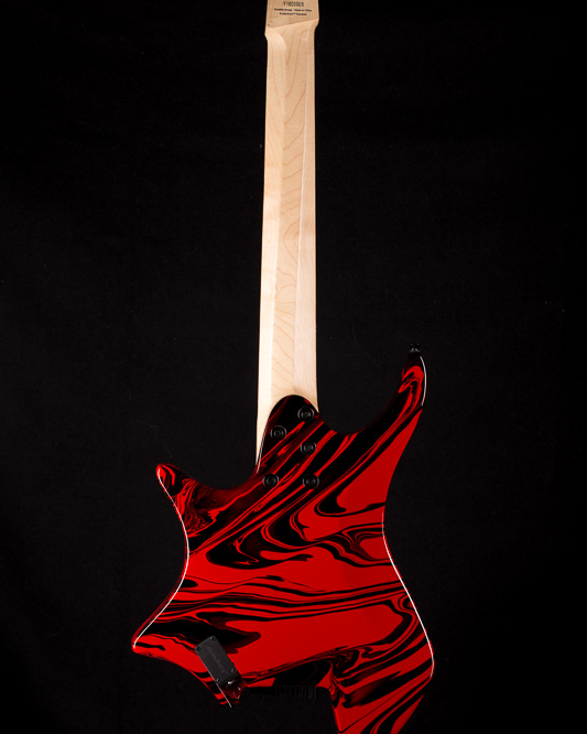 Headless Guitar Boden Singularity 7-string True Temperament Red Swirl back view