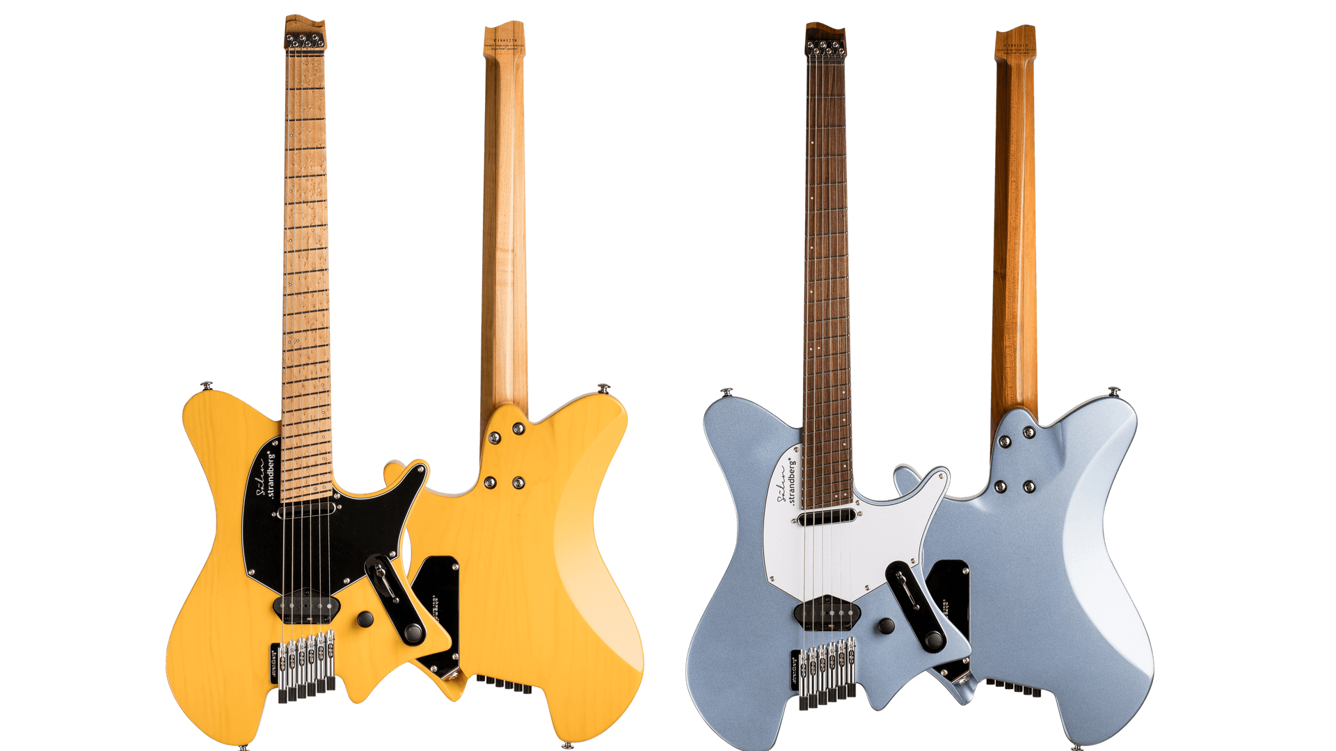family photo Sälen Classic 6-string guitar Trans Butterscotch & blue metallic