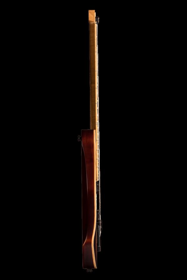 Headless guitar boden standard 6 string bengal burst side view