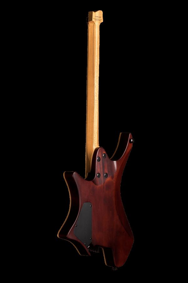 Headless guitar boden standard 6 string bengal burst back view