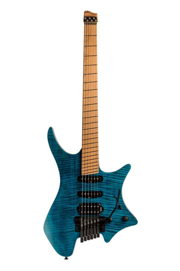 Boden Standard 6-string guitar Tremolo Maple Flame Blue