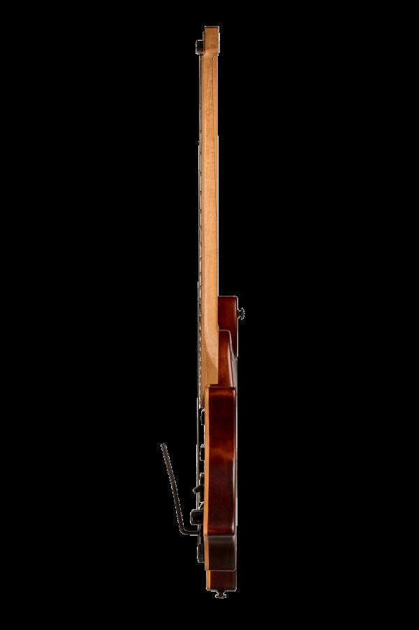 Headless guitar boden standard temolo 6 string bengal burst side view