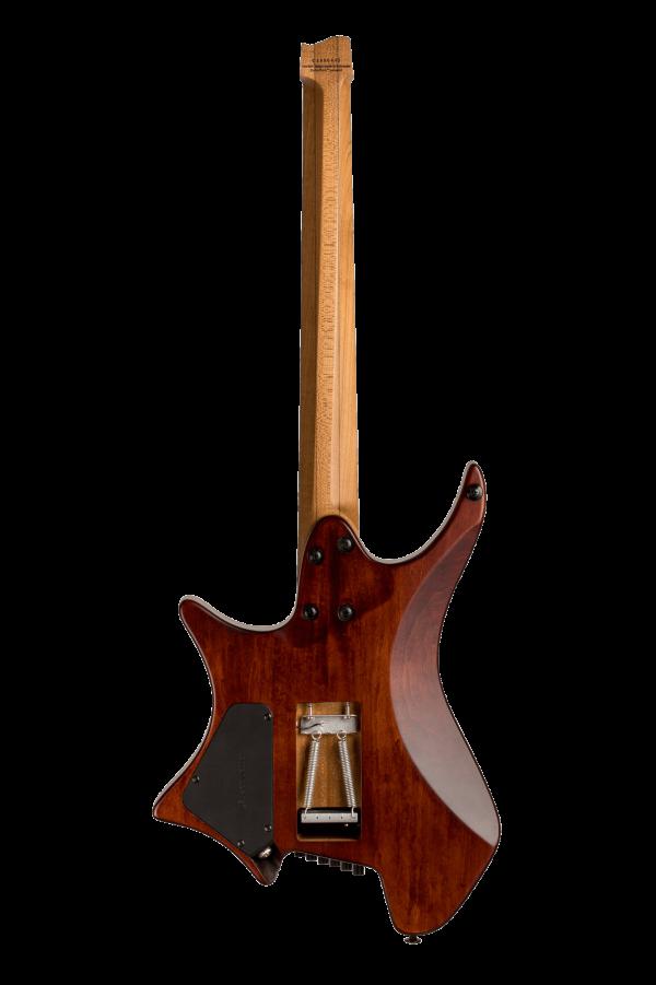 Headless guitar boden standard temolo 6 string bengal burst back view