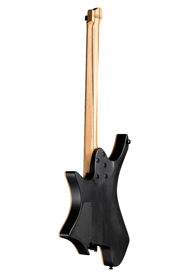 Boden standard 8 string maple flame black back view