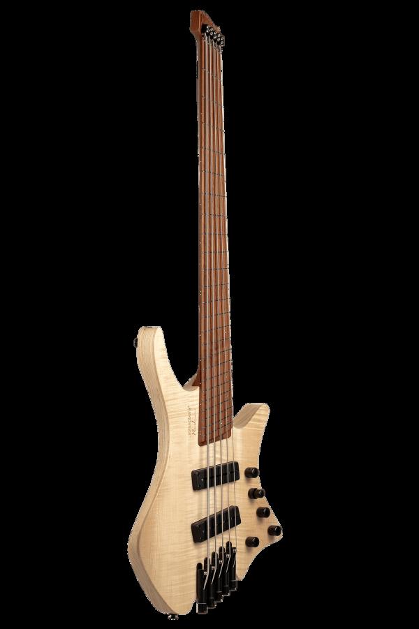 Headless Boden Bass 4-string natural front view