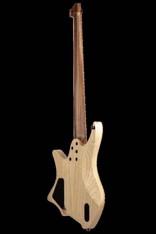 Headless Boden Bass 5-string natural back view